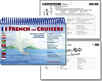 French for Cruisers Front Cover and 2 Inside Pages